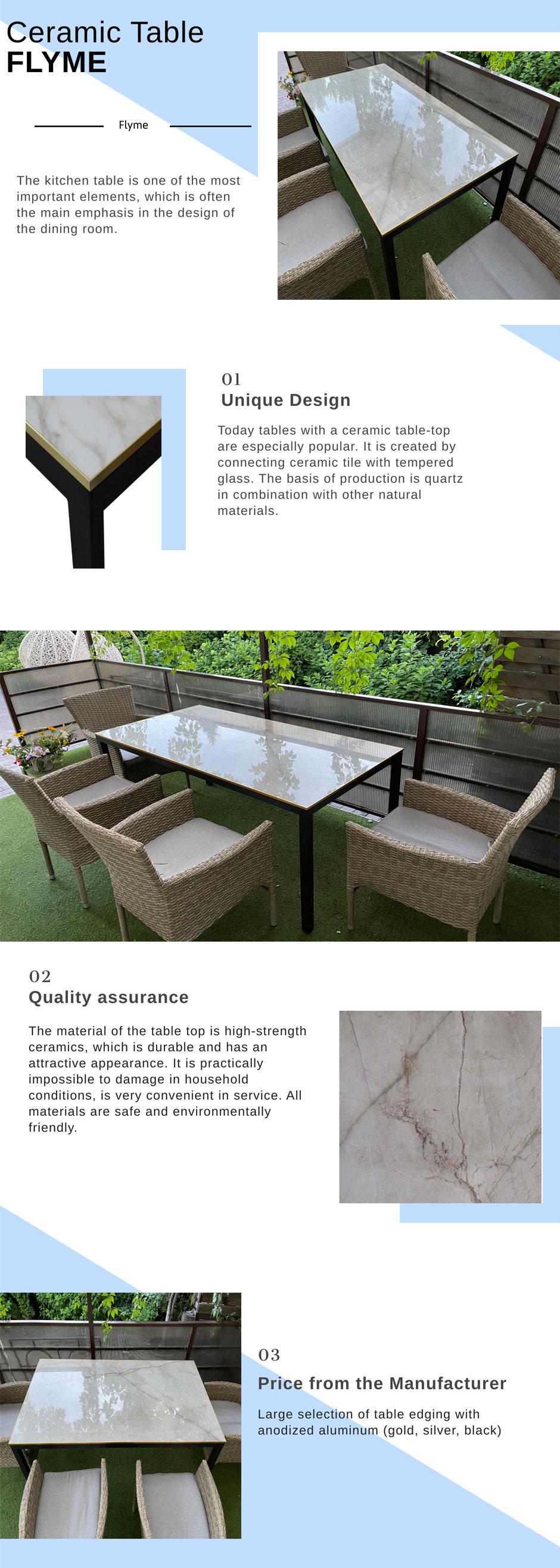 ceramic table beight